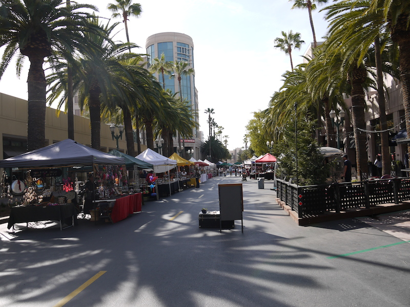 1 Walking up to Downtown Anaheim's Certified Farmers' Market and Craft Fair