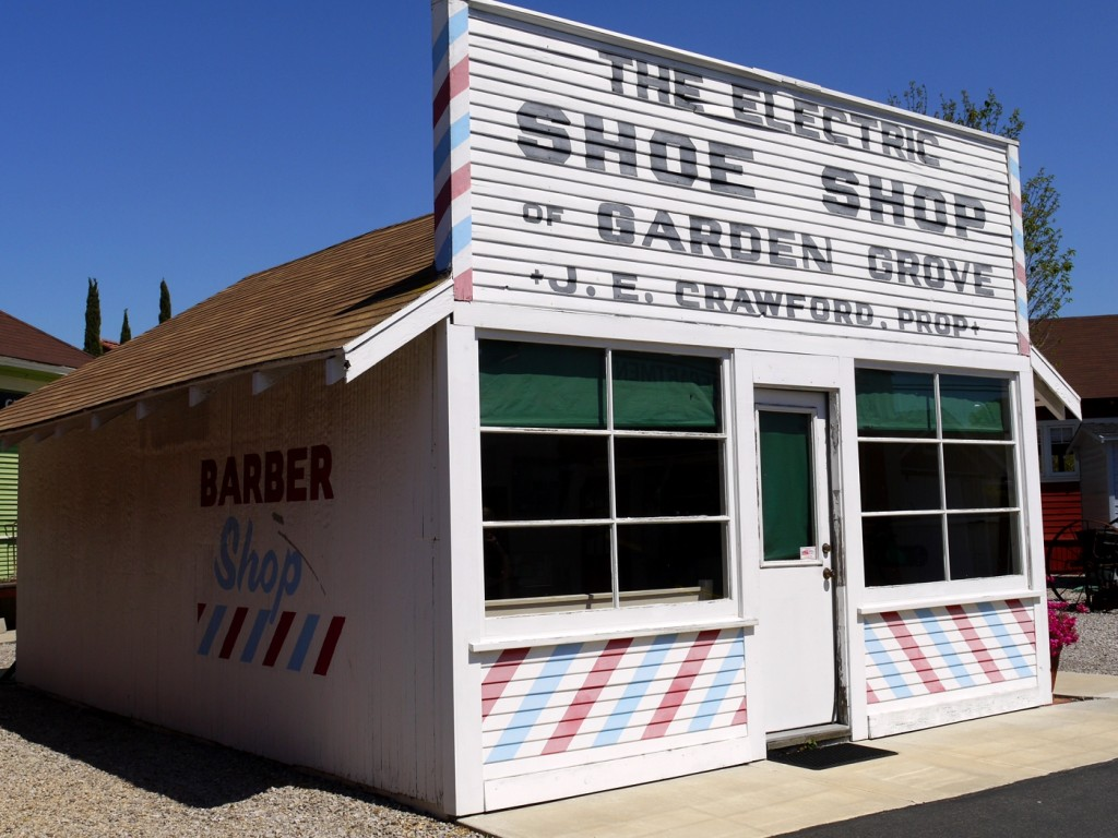 6 Barber Shop and Electric Shoe Shop - Stanley Ranch Museum & Historic Village